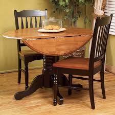 AAmerica British Isles Round Double DropLeaf Dining Table - Round drop leaf kitchen table