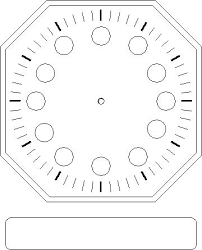 printable clock template without numbers blank clock faces