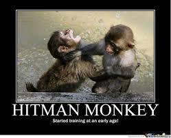 Funny Monkey Meme - hitman monkey by csarratori meme center