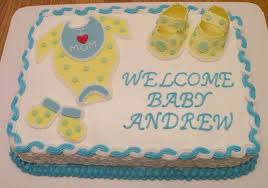 baby shower boy sheet cakes baby shower sheet cake ideas for a boy