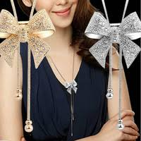 long chain bow necklace images Buy handmade statement french doll necklaces maxi jpg