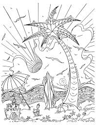 island coloring page coloring page with beautiful tropical surf island drawing by megan