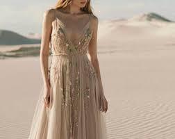 beige wedding dress beige wedding dress etsy