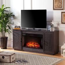 White Electric Fireplace Tv Stand Lantoni 33