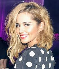 long bob with dipped ends hair cheryl cole swaps her brunette locks for a blonde dip dye cheryl