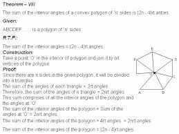 The Sum Of Interior Angles Theorem Sum Of The Interior Angles Of A Convex Polygon Geometry