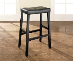 Crosley Furniture Outdoor Crosley Furniture Upholstered Saddle Seat Bar Stool In Black