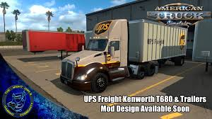 kenworth trailers american truck simulator ups freight design kenworth t680 all