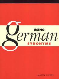Sch E G Stige K Hen Using German Sinonyms