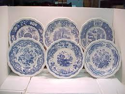 spode blue italian blue room buffet garden salad plate