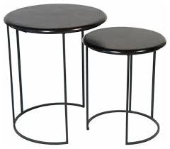 round metal side table sold out pair of round metal nesting tables 350 est retail black