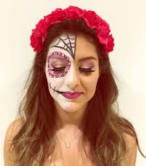 half face halloween makeup ideas pretty half skull makeup mugeek vidalondon