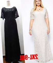 white lace maxi dress plus size pluslook eu collection