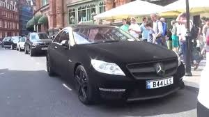 black diamond benz velvet and gold wrapped mercedes cl63 amg in london youtube