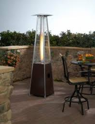 Patio Heater Propane Glass Tower Propane Patio Heater In Antique Bronze