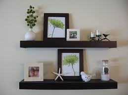 wall shelves decorations astonishing brown wooden floating wall shelves