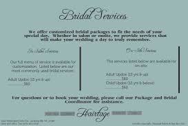 hairtage salon and day spa bridal packages