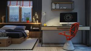 bureau chambre adulte chambre à coucher chambre design masculine idee coin bureau chaise