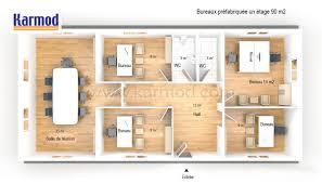 plan des bureaux bureaux préfabriquée 90m bureau de chantier