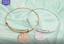 monogram bangle bracelet online deal monogram expandable bracelet 18 00 free shipping