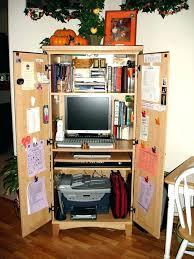 Computer Armoire Desk Cabinet Computer Armoire Desk Cabinet Small Corner Offic Healingtheburn Org