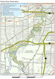 Ohio River On Map by Odnr Coastal Access Rocky River