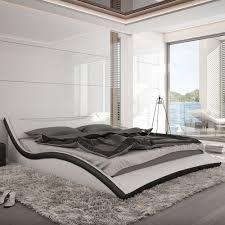 Betten Schlafzimmer Amazon Innocent Polsterbett Aus Kunstleder Nurai Schwarz Weiß 180 X