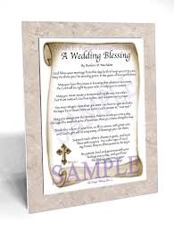 wedding blessing a wedding blessing framed and personalized gifts