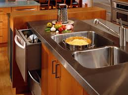stainless steel kitchen countertops design with oven fascinating