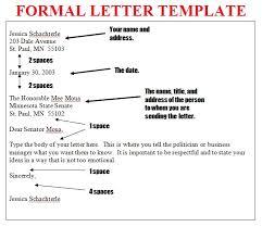 formal letter format sample letter format 2017