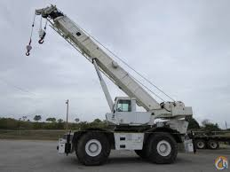 grove rt 750 50 ton rough terrain crane with strong chart crane