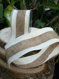 ribbon with wire 10 yard roll of wired burlap ribbon with pearl trim burlap
