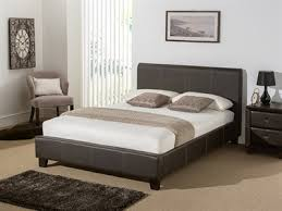 leather beds 5ft king size bed brown real leather aurora