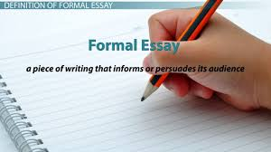 Examples Of Topic Sentences For An Essay Formal Essay Definition U0026 Examples Video U0026 Lesson Transcript