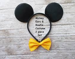 2t Mickey Mouse Halloween Costume Mickey Bow Tie Etsy