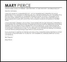 insurance underwriting trainee cover letter