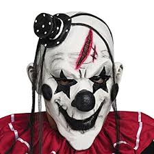 Evil Clown Halloween Costume Amazon Yufeng Scary Clown Mask Adults Halloween Party