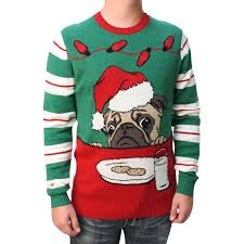 ugly christmas sweater men u0027s pug cookies light up pullover