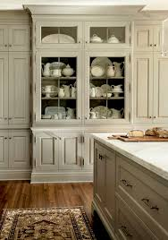 China Cabinet In Kitchen White A Way To Bring Color Into A Neutral Kitchen