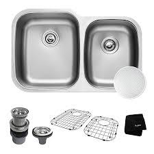 Kitchen Sink Stainless Steel by Kraus Outlast Microshield Scratch Resist Stainless Steel