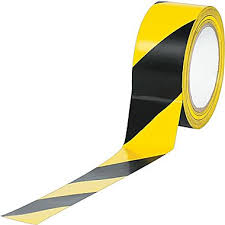 black and yellow ribbon striped vinyl 3 x 36 yds black yellow 16 staples