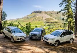 compare honda crv to subaru forester suv comparison ford kuga vs honda cr v vs subaru forester cars