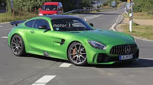 mercedes supercar mercedes amg gt4 road car spotted at the nurburgring