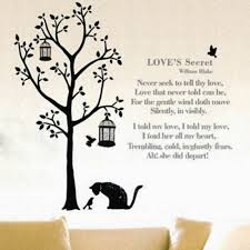 search on aliexpress com by image black cat tree bird cage wall sticker decal home decor vinyl removeable