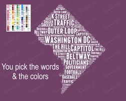 Washington Dc Traffic Map by Word Art