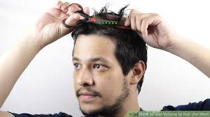thining hair large ears men 5 ways to add volume to hair for men wikihow