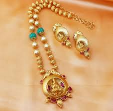 long chain locket necklace images Chain locket necklace set designer long chain with lakshmi devi jpg