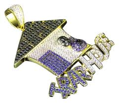 custom pendant jewelry unlimited yellow finish gold purple black lab diamond trap