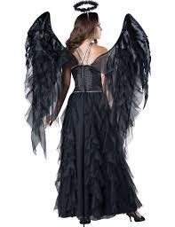 halloween angel costumes premium black angel costume for women vegaoo