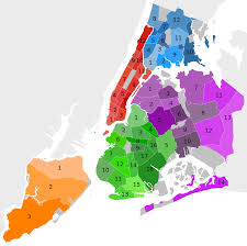 New York City Zip Codes Map by Community Boards Of New York City Wikipedia